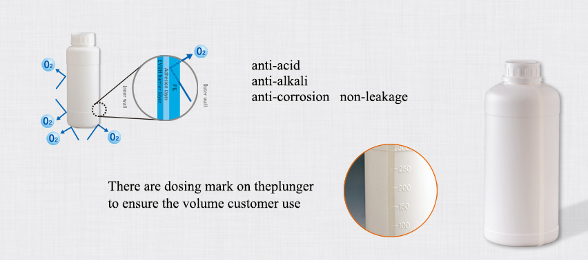 Advantage of 500ml COEX liquid bottle:anti-acid,anti-alkali,anti-corrosion,non-leakage