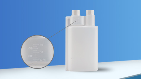 Material characteristics of double neck bottle