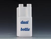 Application of Twin neck bottle in Fluorescent Leak Detector
