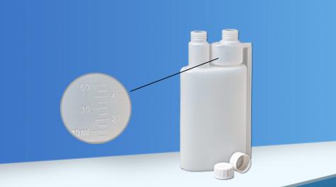 Application of double neck bottle in PH buffer
