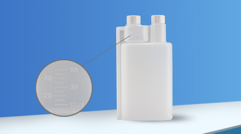 Application of double-neck bottle in disinfectant packaging