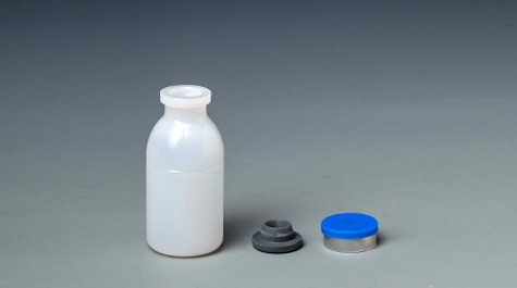 What are the commonly used materials for veterinary vaccine bottles